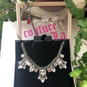 Juicy Couture Rhinestones Toggle Necklace